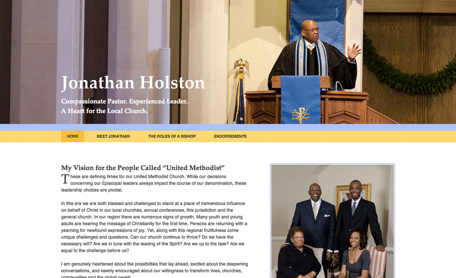 Screenshot of JonathanHolston.org